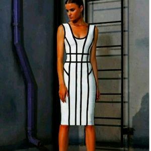 Herve Leger White Dress